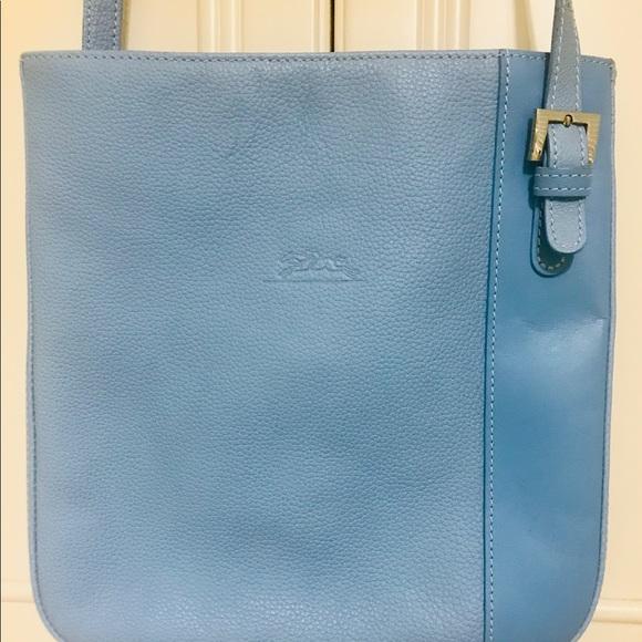 Authentic new longchamp leather crossbody bag